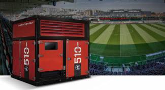 HIMOINSA Power Cubes en el nuevo estadio del KV Oostende en Bélgica