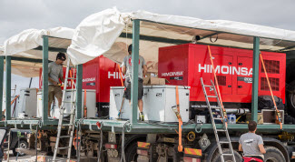 HIMOINSA generator sets at charging points for the Acciona EcoPowered electric vehicle