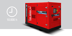 New gas-powered generator set with maintenance every 10,000 hours