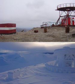 How do HIMOINSA canopies withstand heavy snowfalls and storms?