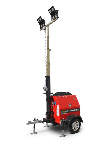 New lighter and more compact lighting tower
