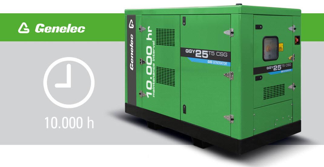 Nouveau groupe électrogène gaz proposant un intervalle de maintenance de 10 000 heures
