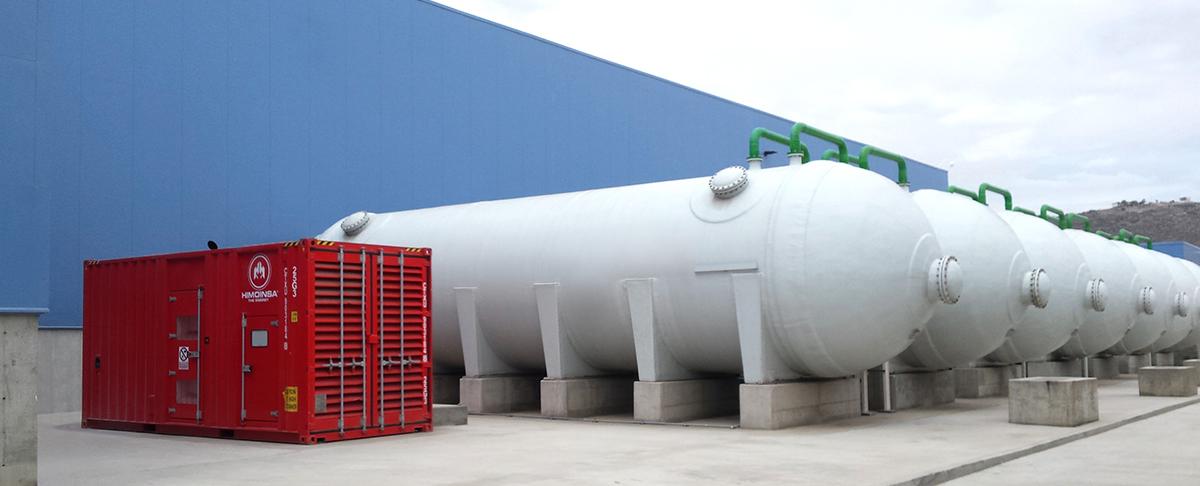 Énergie de secours dans une usine de dessalement apportant au réseau hydrique 250 litres d'eau par seconde
