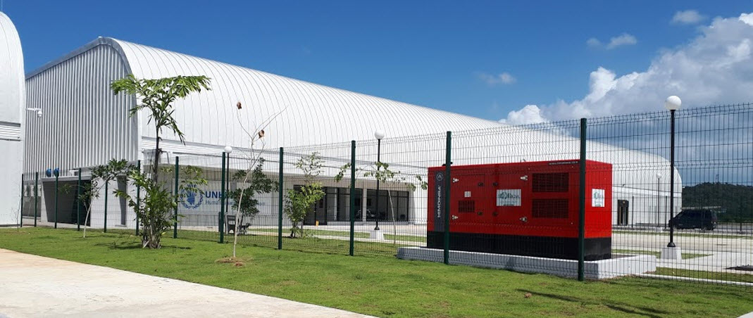 Emergency power for one of the most important humanitarian aid centres in Latin America