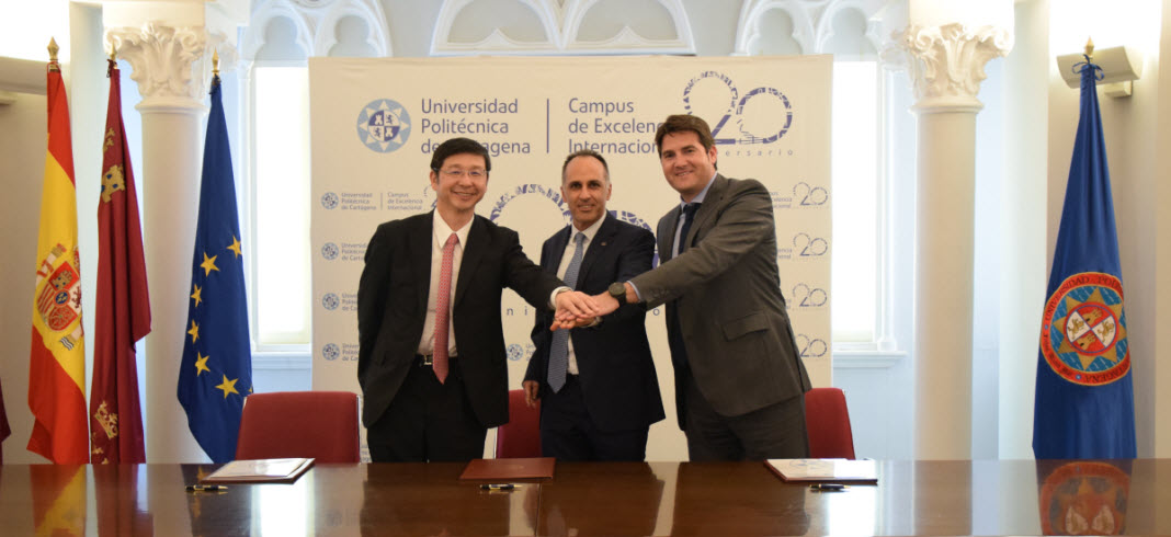 HIMOINSA and YANMAR renew their collaboration agreement with the Polytechnic University of Cartagena (UPCT)