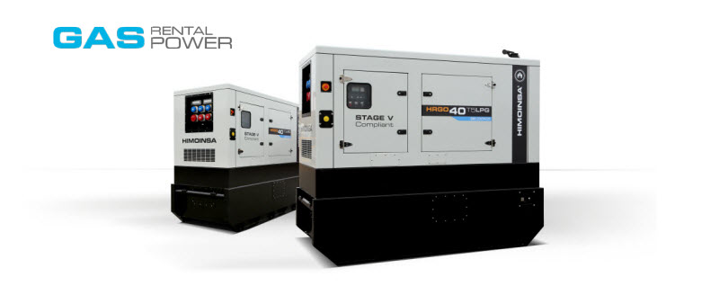 Gas generator sets, Stage V compliant, for the rental sector