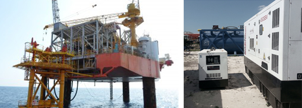 HIMOINSA generator sets used in construction of new oil platforms in Mexico