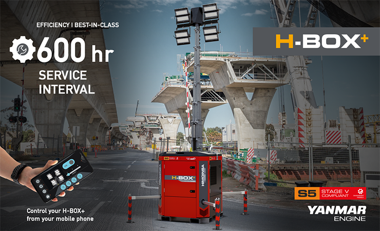HBOX+, the new HIMOINSA lighting tower. Efficiency, connectivity and safety