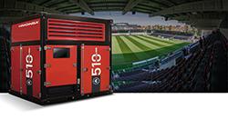 HIMOINSA Power Cubes im neuen Stadion von KV Oostende in Belgien