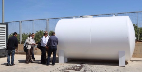 Water treatment plan generator, external tank - Algerian Ministry